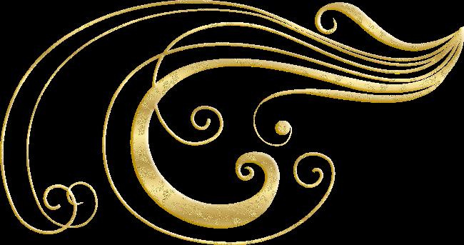 للتصميم سكرابز زخارف ذهبية Png