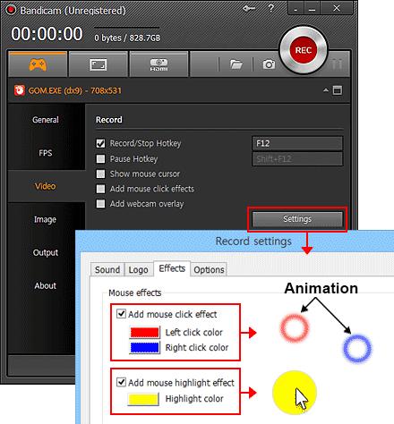 برنامج تسجيل وتصوير شاشة سطح المكتب فيديو Bandicam 3.3.3.1209