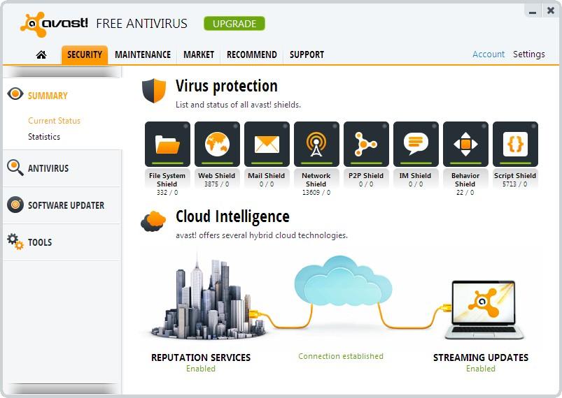 الحماية الفيروسات Avast! Free Antivirus 32680alsh3er.png