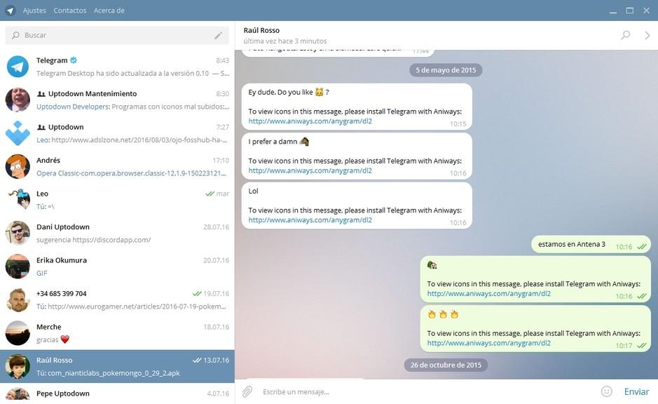 المحادثة والدردشة تيليجرام Telegram Desktop 34083alsh3er.png