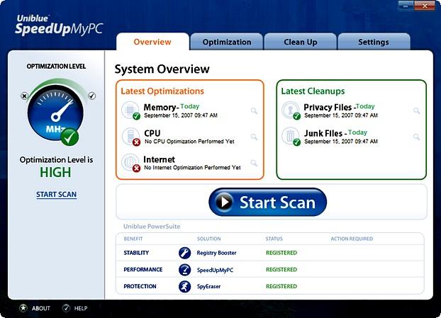 العاصفUniblue's PowerSuite v1.5 3500.imgcache